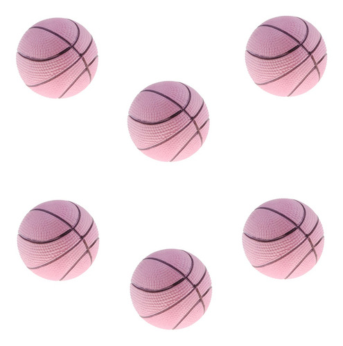 Imagen 1 de 7 de 6 Unidades Mini Pelotas De Baloncesto Hinchable Bolas De
