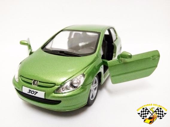 Miniatura Peugeot 307 Xsi Verde Kinsmart 1:32