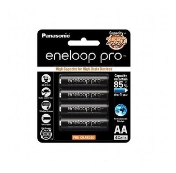 Panasonic Eneloop 2550 Mah Pro Original 4un Aa + 1 Case