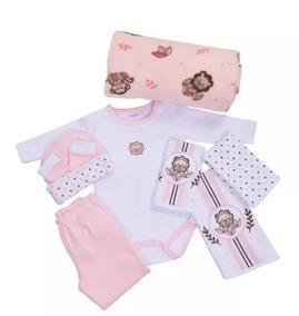 Baby Kit Colibri Jungle Rosa 8pçs