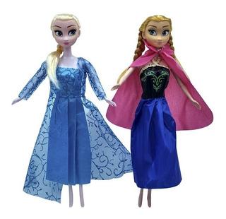 Muñecas Frozen Articuladas Juguete Para Niñas X2 Elsa Y Ana