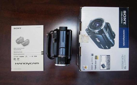 Filmadora E Câmera Sony Hdr-xr550v