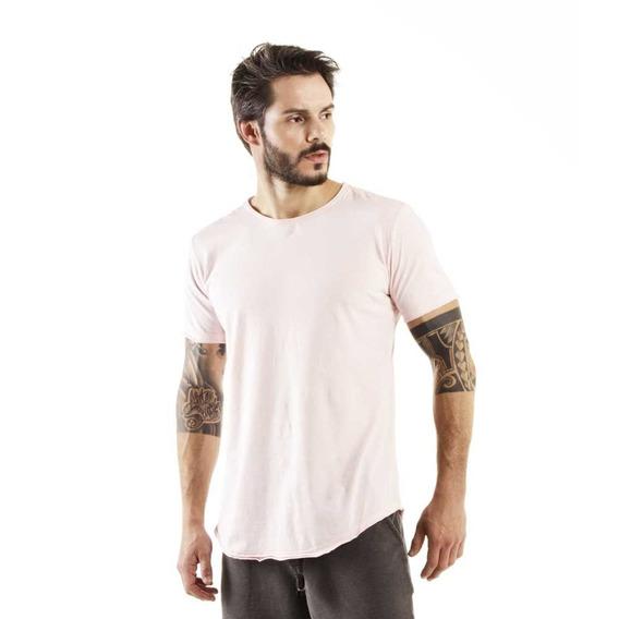 Camiseta Longline Curve Rosé