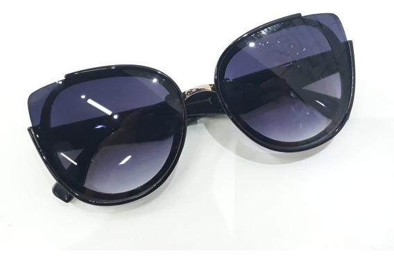 Oculos De Sol Feminino Gatinho Preto Estilo Blogueira Barato