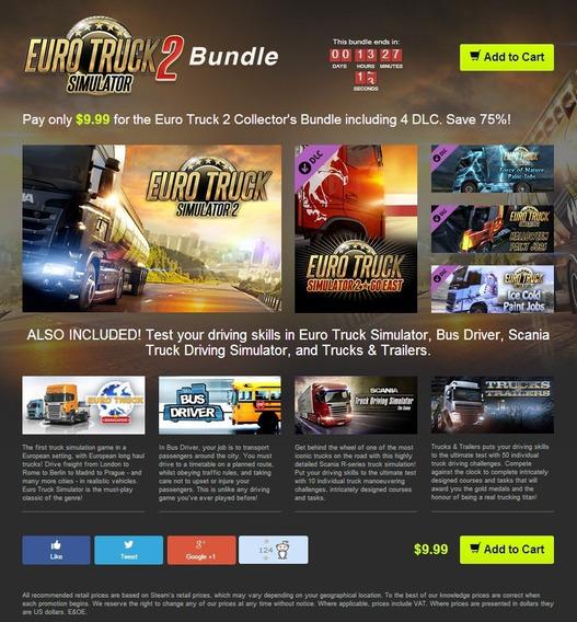 Euro Truck Simulator 2 Pc Steam Edição De Colecionador