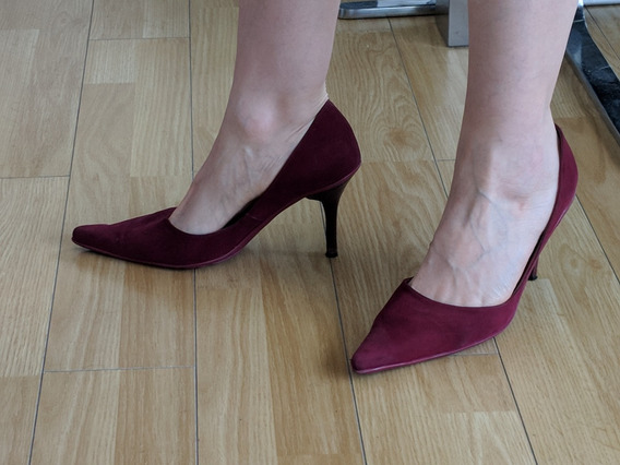 Zapatos Stilettos Mujer Sarkany Gamuzados Usados Numero 40