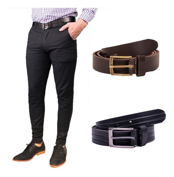 Pantalon Hombre Formal Vestir + Cinturon Cuero - Combo/pack - Cinturon Cuero