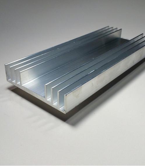 Barra Dissipador De Calor Aluminio 8,6cm Largura C/ 20cm