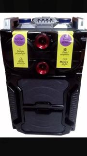 Parlante Karaoke Portátil Bluetoth 600w Usb Micrófono 30%off