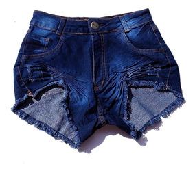 Shorts Cos Alto Cintura Alta Desfiado Destroyed St002