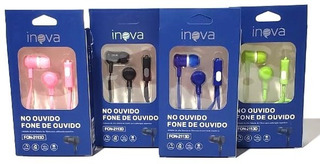 Fone De Ouvido Microfone Estéreo Unidade Várias Cores Inova