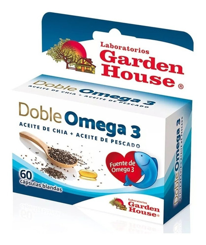Garden House Doble Omega 3 Colesterol X 180 Caps Pack X 3u