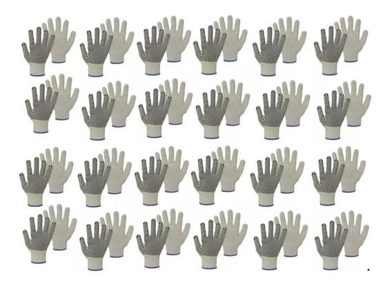 Luva Tricotada Em Algodão Pigmentada (4 Fios) 24 Pares