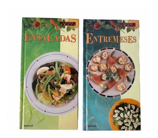 2 Libros De Entremeses Y Ensaladas Cocina Fácil Pasta Dura.
