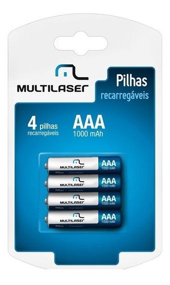 Pilha Recarregável Multilaser Cb050 Com 4 Pilhas