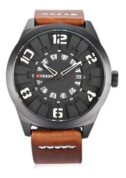 Relógio Masculino Curren Analógico 8258 Preto