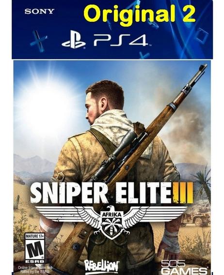 Sniper Elite 3 - Ps4 Cod 2 Envio Já