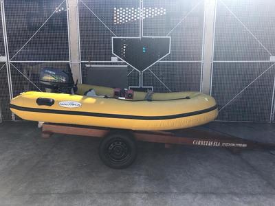 Carreta +bote Inflavel +motor 15hp Zero