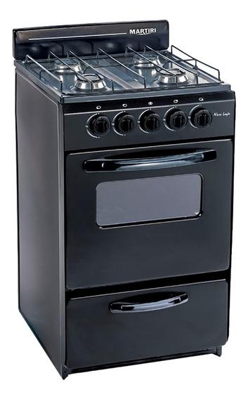 Cocina Martiri New Lujo Black 4 Hornallas, 51 Cm Argsale