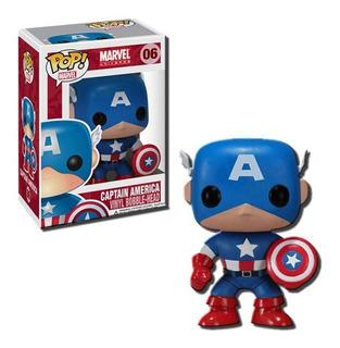 Muñeco Funko Pop 06 Capitán América Edición Especial Marvel