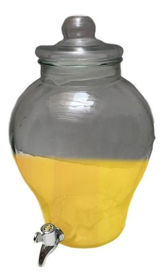 Dispenser Frasco Con Canilla D Vidrio 6 Lts Bebidas Jugos C