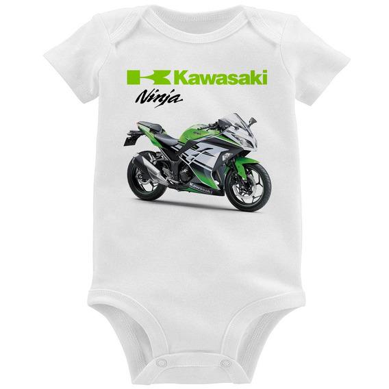 Body Bebê Moto Kawasaki Ninja 300 Verde