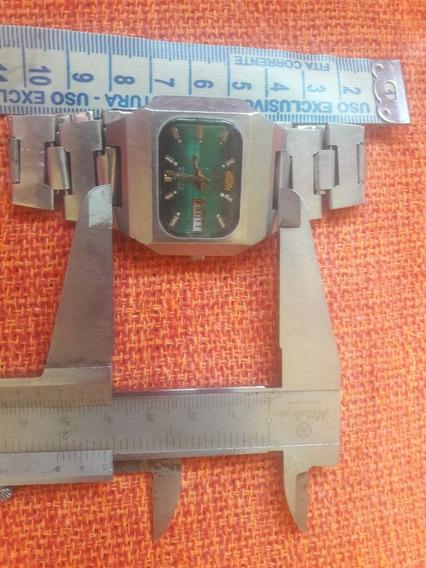 Relógio Antigo Orient Y469660-40 Quadrado Automático Lei