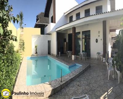 Casa Para Locação De Temporada A 60m Da Praia Com Piscina Em Peruíbe. - Ca02983 - 31965029