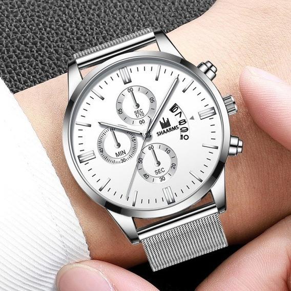Relógio Shaarms Analógico Prata