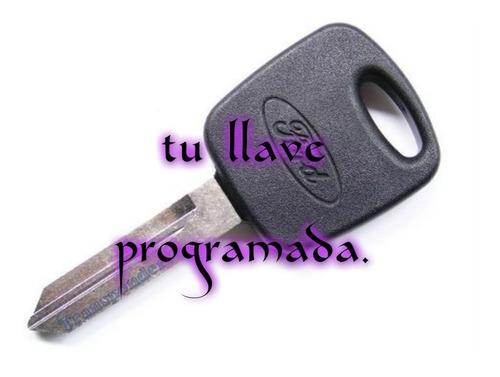 Llave Con Chip Ford Fiesta , Ecosport Cortada Y Programada
