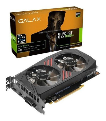 Imagem 1 de 2 de Placa de vídeo Nvidia Galax  GeForce 10 Series GTX 1050 Ti 50IQH8DSQ31C OC Edition 4GB