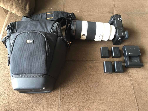 Kit Sony Alpha 6400 Oss Mirrorless + Lente + Baterias + Case