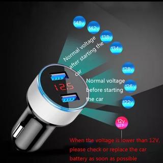 Carregador Celular Veicular 3.1 A Voltimetro Digital 2 Usb