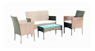 Sala Para Exterior Tipo Ratan Cafe Con Mesa, 4 Piezas