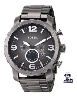 Reloj Fossil Nate Jr1437 Acero Gunmetal Original Garantía