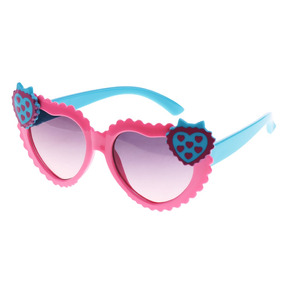 Heart Style Cartoon Baby Girls Kids Outdoor Sunglasses Pink