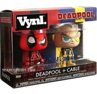 Funko Deadpool + Cable Vynl Original Scarlet Kids