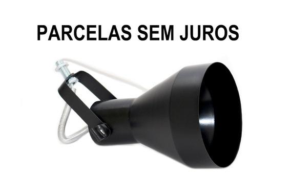 Spot Eletrocalha Cor Preto Par30 - Funil