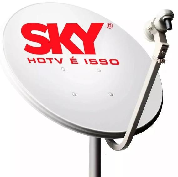 Antenas Ku 60cm Lnb Simpl ( Sem Cabo E Sem Conector) 7 Unid.