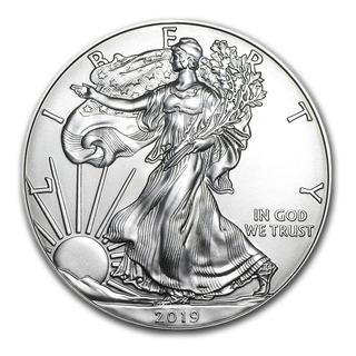 5 Monedas Plata American Eagle 1 Onza C/u 2019, Ley .999