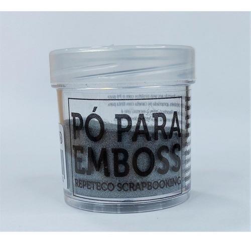 Imagem 1 de 1 de Repeteco - Pó Para Emboss Metálico - Cor Prateado - 14gr