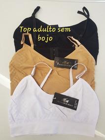 Kit Com 12 Tops Adulto P/m E G/gg Cores E Tamanhos Sortidos