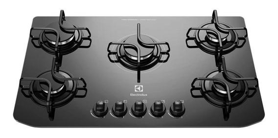 Fogão cooktop a gás Electrolux GC70V preto 110V/220V (Bivolt)