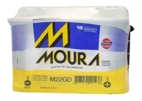 Bateria Moura Brasil M22gd 12x65 Focus Gol 207 208 65ah