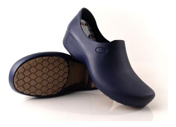 Calçado Pra Cozinha Antiderrapante Stick Shoes Woman Marinho