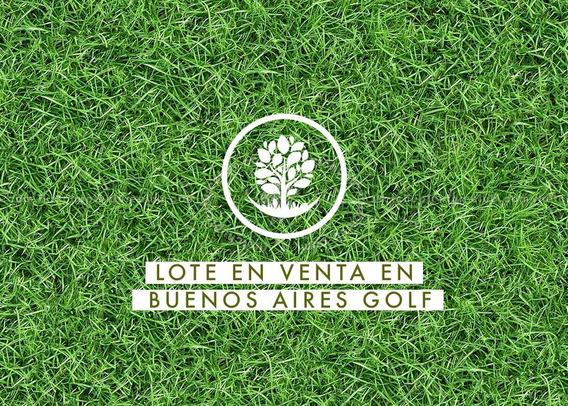 Terreno En Venta En Buenos Aires Golf