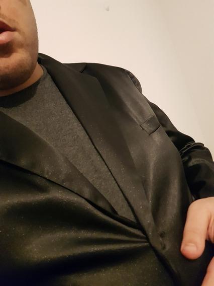 Saco Xxxl Negro Satinado Solo 2 Usos Usado Cordoba