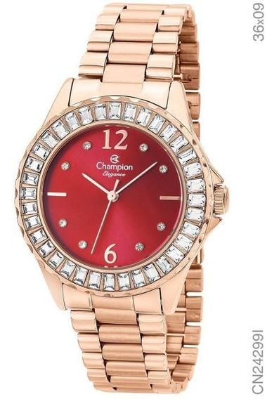 Relógio Champion Rosê Cn24299i - Original Com Nfe