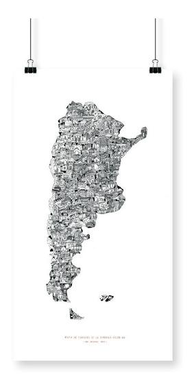 Cuadro Lámina Deco República Argentina Josefina Jolly 65x36c