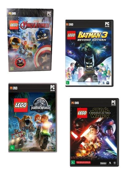 Lego Jogo Computador Pc Game Vingadores Marvel Dc Md. Física